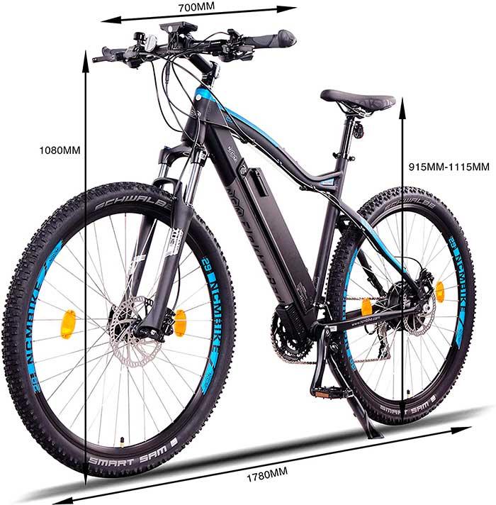 bicicleta electrica NCM Moscow Plus